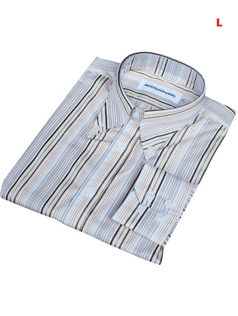 This Shirt Only. Button down pointed collar shirt   Multi color stripe shirt for men