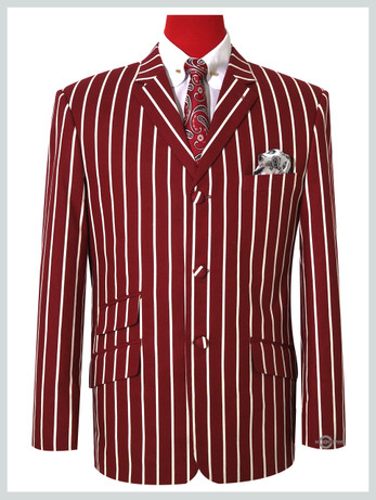 Only This jacket    Burgundy Striped Boating Jacket For Man