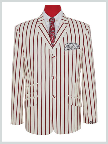 Only this jacket    60s mod style off-white striped boating jacket .