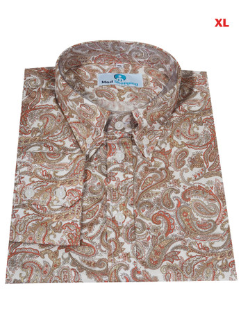 This Shirt Only. Paisley Shirt  White Multi Color Paisley Shirt For Man