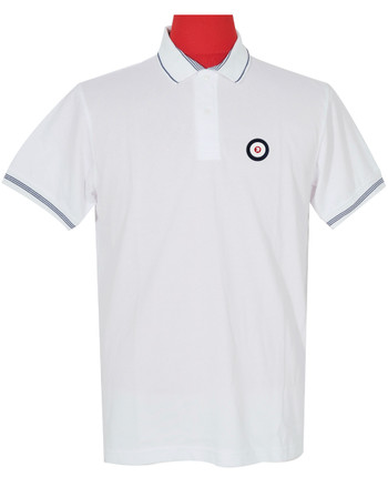Polo Shirt Fabric Cool Plus Colour White Trojan Polo Shirt