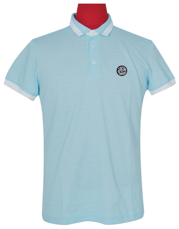 Polo shirt Fabric Cool Plus Short Sleeve Colour Sky Blue Polo Shirt.