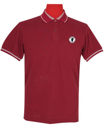 Polo Shirt Fabric Cool Plus burgundy colour Northern Soul Polo Shirt