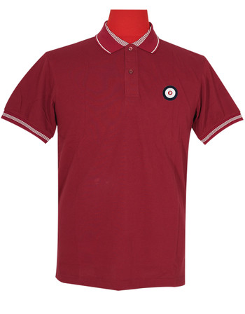 Polo Shirt Fabric Cool Plus Burgundy Colour Trojan Polo Shirt
