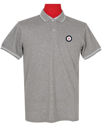 Polo Shirt Fabric Cool Plus Colour Grey Trojan Polo Shirt