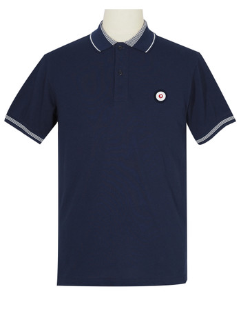Polo Shirt Fabric Cool Plus colour Navy Blue Trojan Polo Shirt