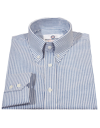 Long Sleeve Shirt | Seersucker Summer Shirt For Man