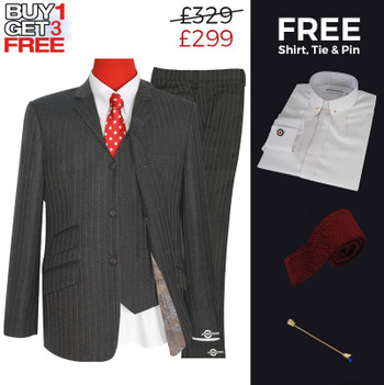 Suit Deals| Uk Mod Clothing Suit Deals, Buy 1 Brown Grey Suit Get 3 Free