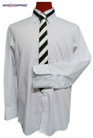 button down shirt| high collar white mod shirt uk