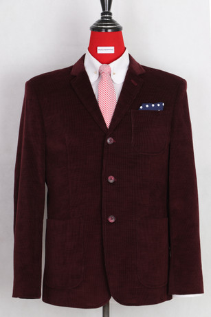 This jacket only.Burgundy corduroy blazer 40 R
