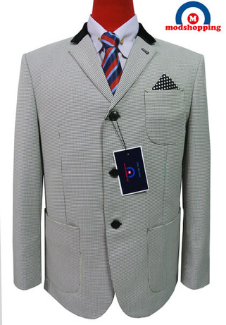 grey blazer| dog-tooth check mens tweed blazer uk