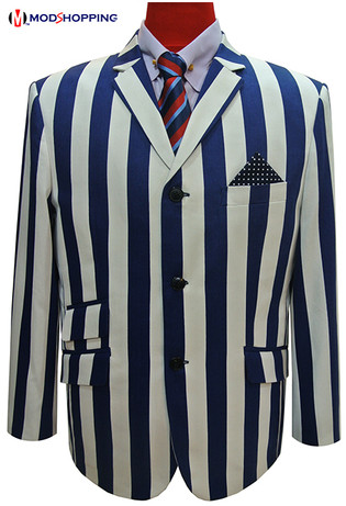 Boating blazer,Blue and white striped blazer