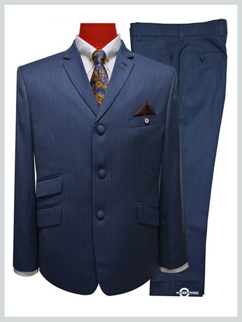 mod suits|tailored mod fashion 60s  herringbone blue mens mod suit