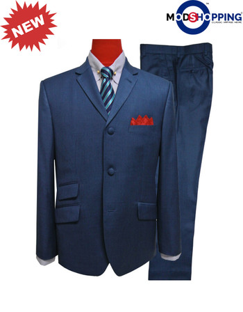 60s mod clothing tailored pete blue mod suit for men