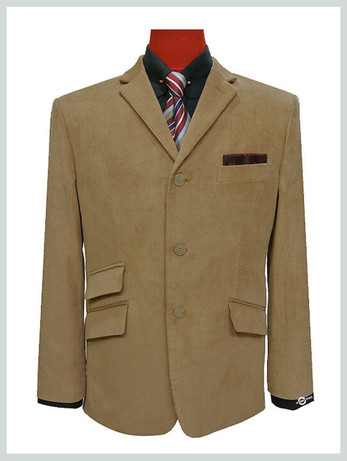 corduroy tweed blazer |retro 60s mod style beige corduroy blazer jacket for men