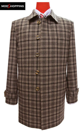overcoat| original 60s mod fashion light brown mens winter coat