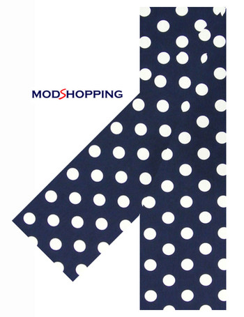 hand made big polka dot scarf for men, 60s mod style