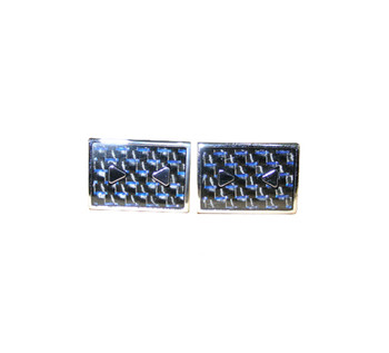 tailored, men's slim fit blue square cufflinks for men