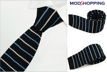 knitted tie| black pin stripe knit ties for mens