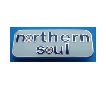 vintage style northern soul pin badges for men
