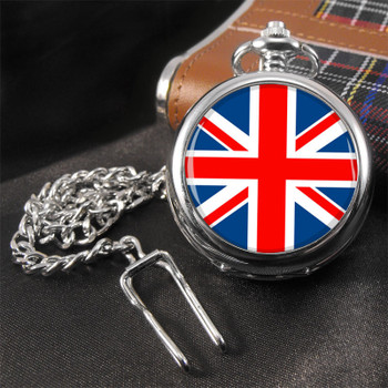 pocket watch| union jack flag uk british pocket watch