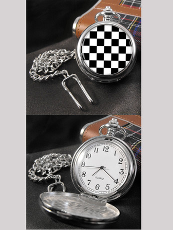 retro mod clothing ska pocket engraving watch for men, vintage