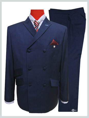 60s mod double breasted prince of wales suit tailored