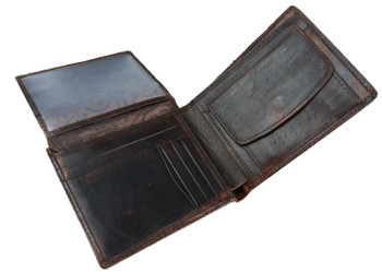 men's classical  vintage horse leather luxury wallet at modshopping