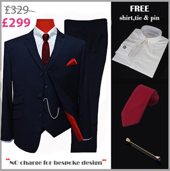 suit deals| uk mod clothing suit deals, buy 1 navy blue suit get free 3
