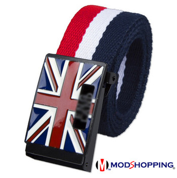 striped belt| 60s mod style union jack mod stripe belts for men