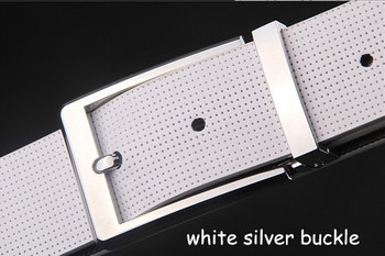 mod fashion silver bucklet white suit belt for men, 1960s