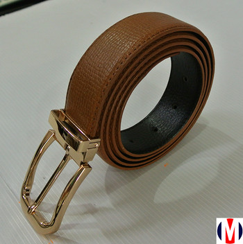 executive tan leather golden buckle suit belt sale for online