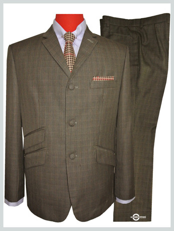 69,S Brown check Mod suit