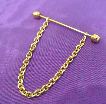 original new brand mens gold penny collar pin uk