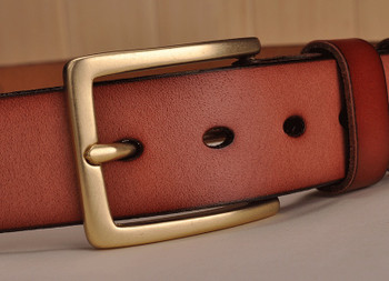 pure copper buckle cowhide genuine leather luxury jeans belt