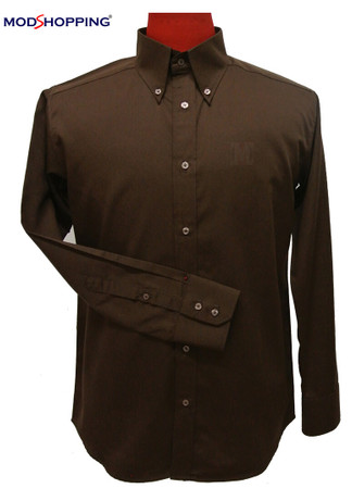 brown classic button down shirt for men| formal shirt