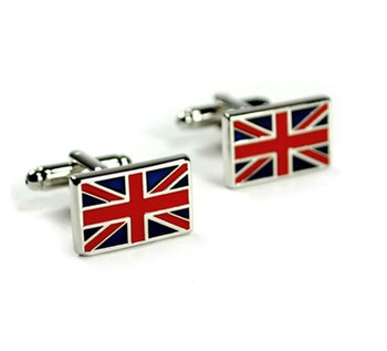 retro mod style luxury union jack cufflinks for men, 60s