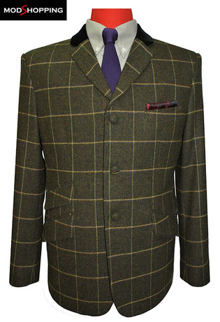 blazer jacket|60s retro mod style tailored tweed blazer jacket for men