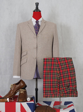 herringbone vintage blazer beige colour 60 mod style,3 button tweed blazer jacket