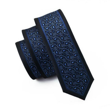 blue tie| men's narrow blue paisley tie uk