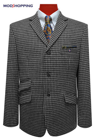 tweed blazer| houndstooth check classic grey mod blazer for men tailored,60s