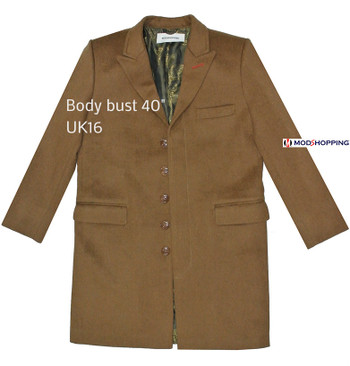 SALE,BROWN LADIES LONG WINTER COAT