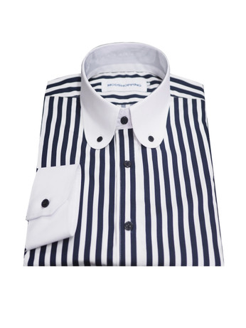 Vintage Navy blue striped shirt