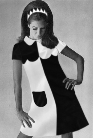 Retro 60's Black & white dress