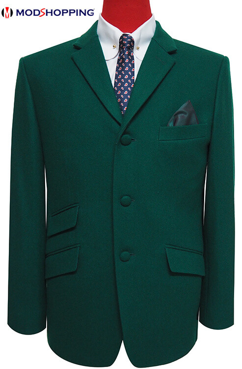 tweed green jacket| retro mod clothing tailored green blazer for men, 60s  mod