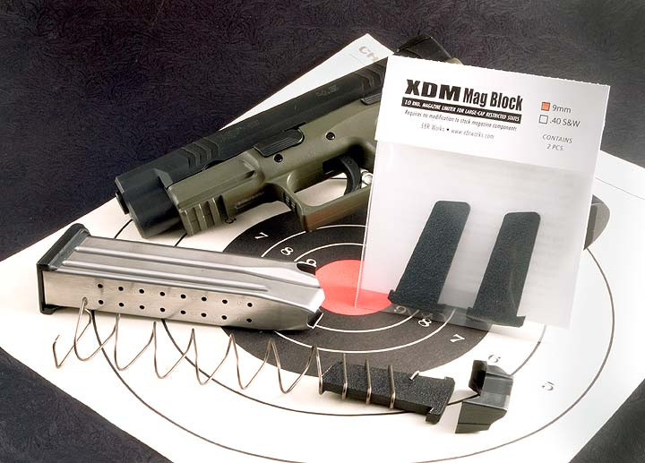 Springfield XDM  40S&W 16 round to 10 round Mag Conversion Kit - Two Pack
