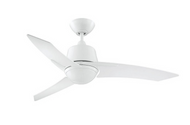 Designers Choice Scimitar 44 in. White Ceiling Fan