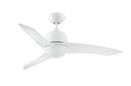Designers Choice Scimitar 44 in. White Ceiling Fan