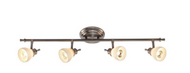 Hampton Bay Bairnsdale 4-Light Directional Track Bar Fixture Satin Nickel