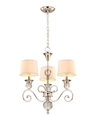 Hampton Bay Lucerne Collection 3-Light Polished Nickel Chandelier